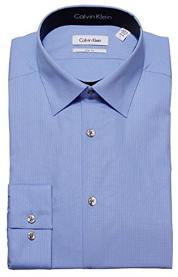 מכופתרת קלווין קליין תכלת CALVIN KLEIN Dress Shirt Light Blue Slim Fit