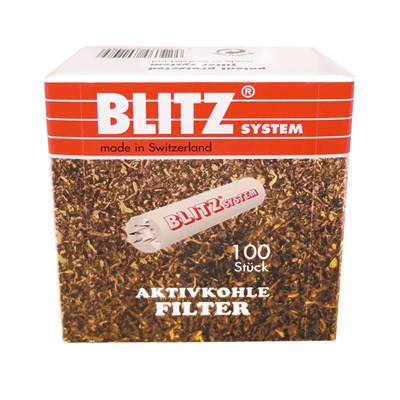 "פילטר למקטרת בליץ 9 מ""מ 100 יח' BLITZ Pipe Filters 9 m""m 100 Pieces"